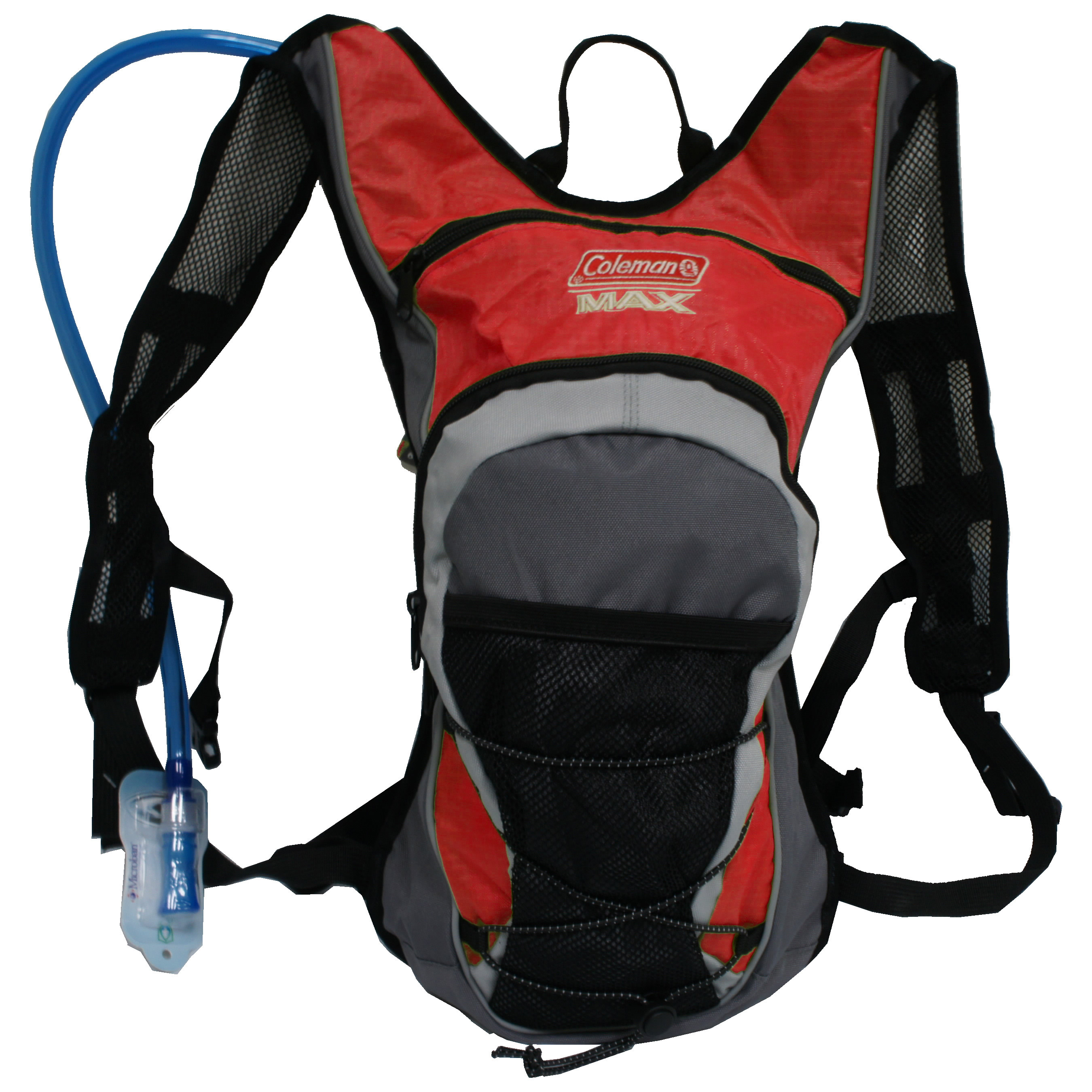 Coleman-Max-Hydration-Pack-Lightweight-Backpack-2L-Hydration-Bladder-Red-Green
