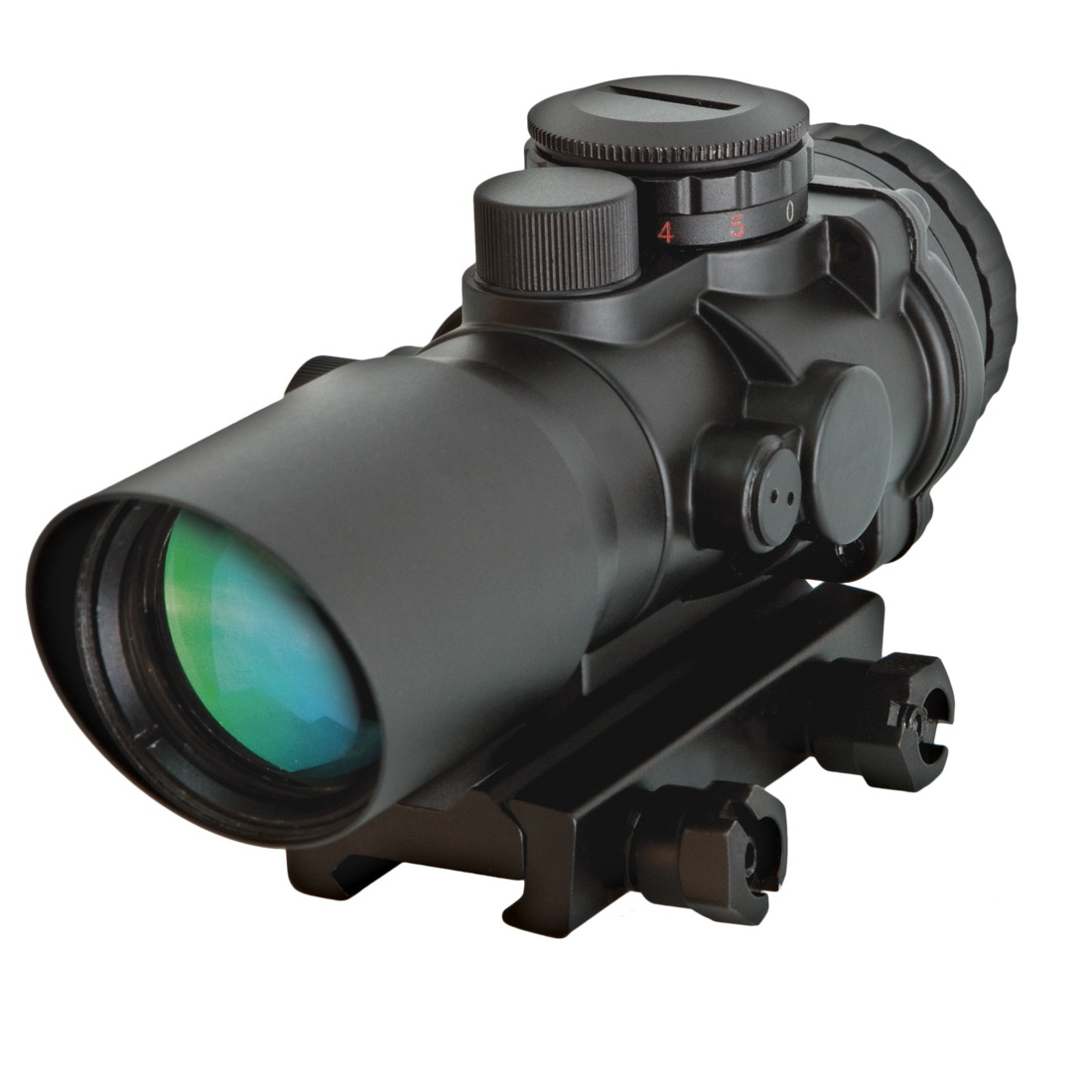 ITAC Defense CP1 Prismatic 3X Red Dot Scope Illuminated Red and Green ...