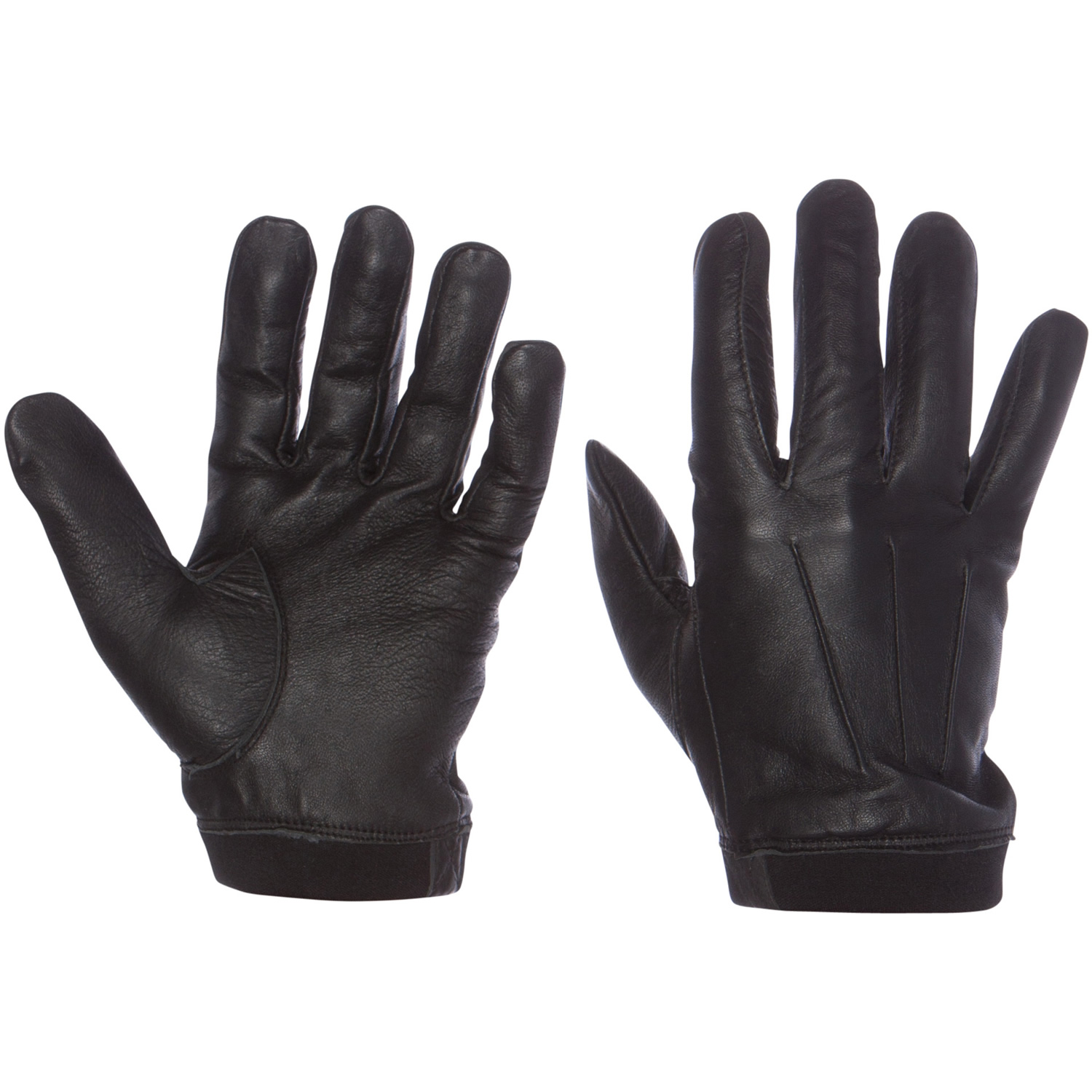 Black tactical gloves - Protech Police Military Duty Black Tactical Gloves W Neoprene Cuff All Sizes