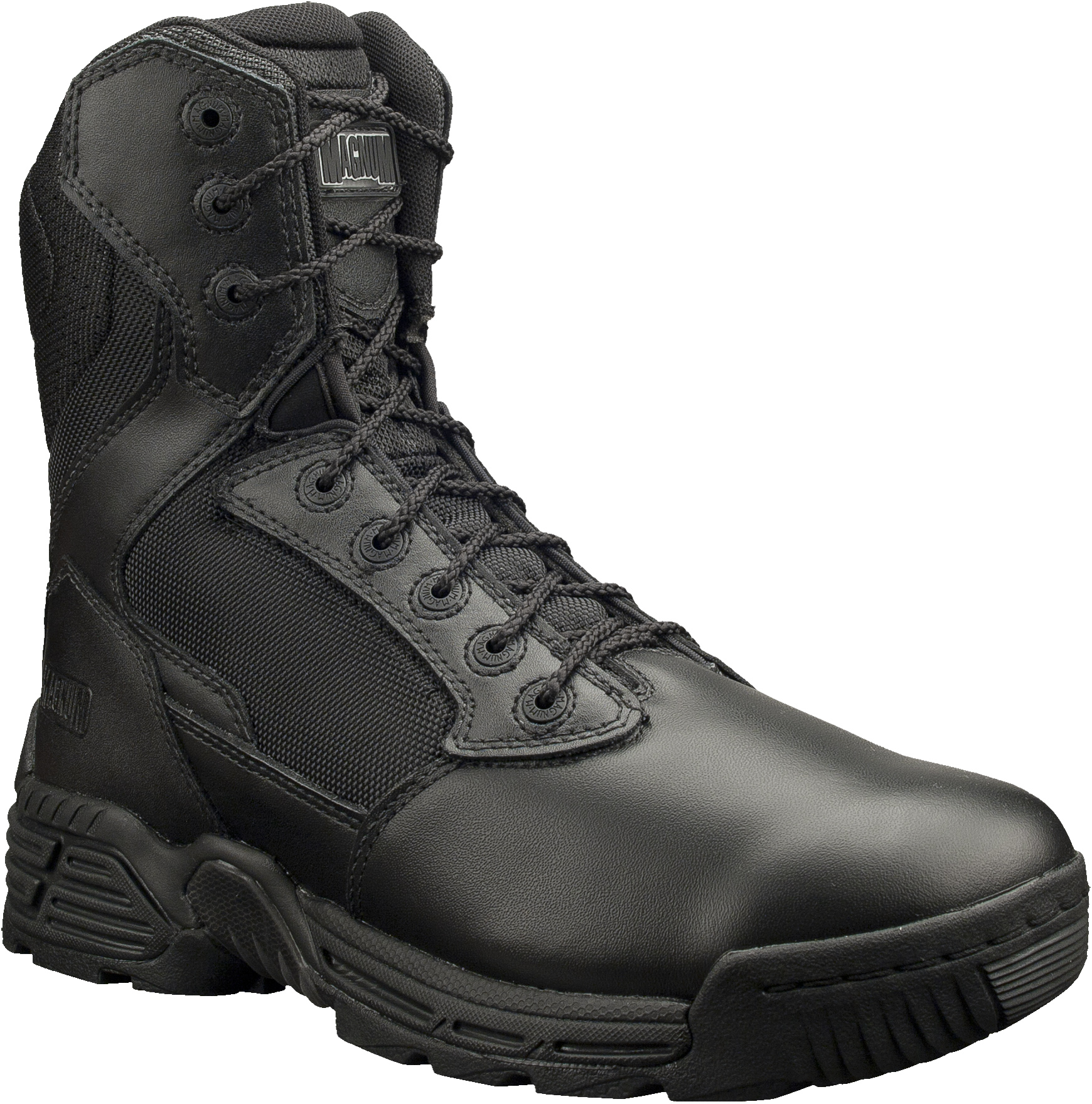 "Magnum Mens 8"" STEALTH FORCE 8.0 Side Zip Black Police Army ..."