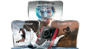Water, Shock and Dust proof design